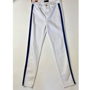 James Jeans High Class Skinny Fit White w/ Stripe